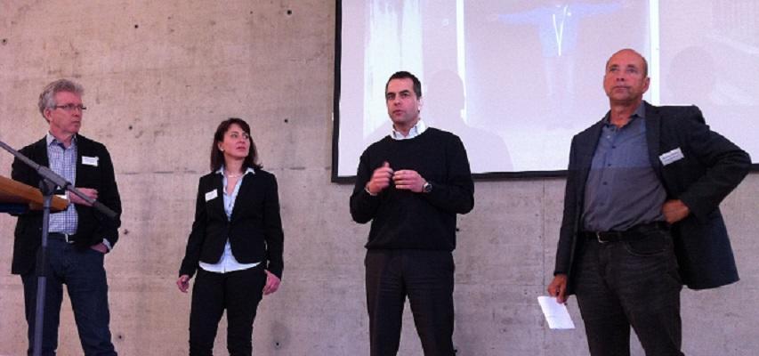 Diskussionsrunde mit Janet Gripp, Carsten Redlich, Martin Trillig und Christian Stupka