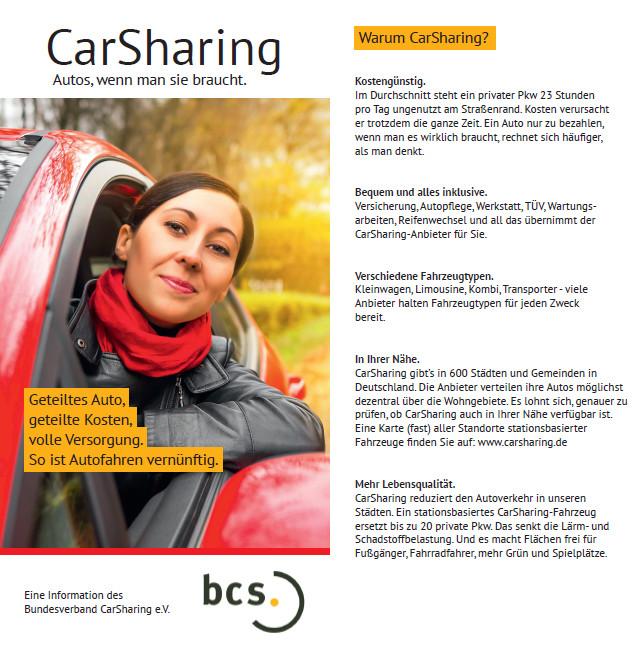 CarSharing - Autos, wenn man sie braucht