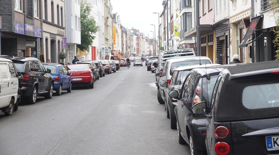 Abbildung 1: Die Situation in den Untersuchungsgebieten (Beispiel aus Köln), Bild: bcs