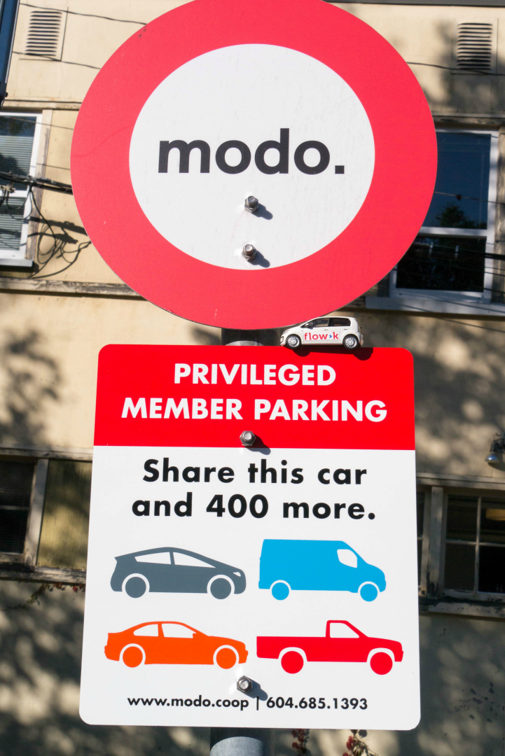 Parkschild für CarSharing-Fahrzeuge von modo