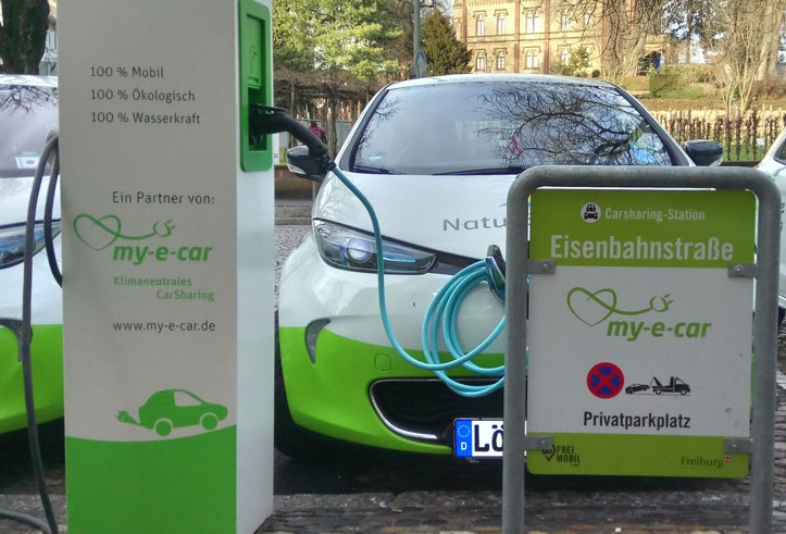 CarSharing-Station in Freiburg (Foto: my-e-car)