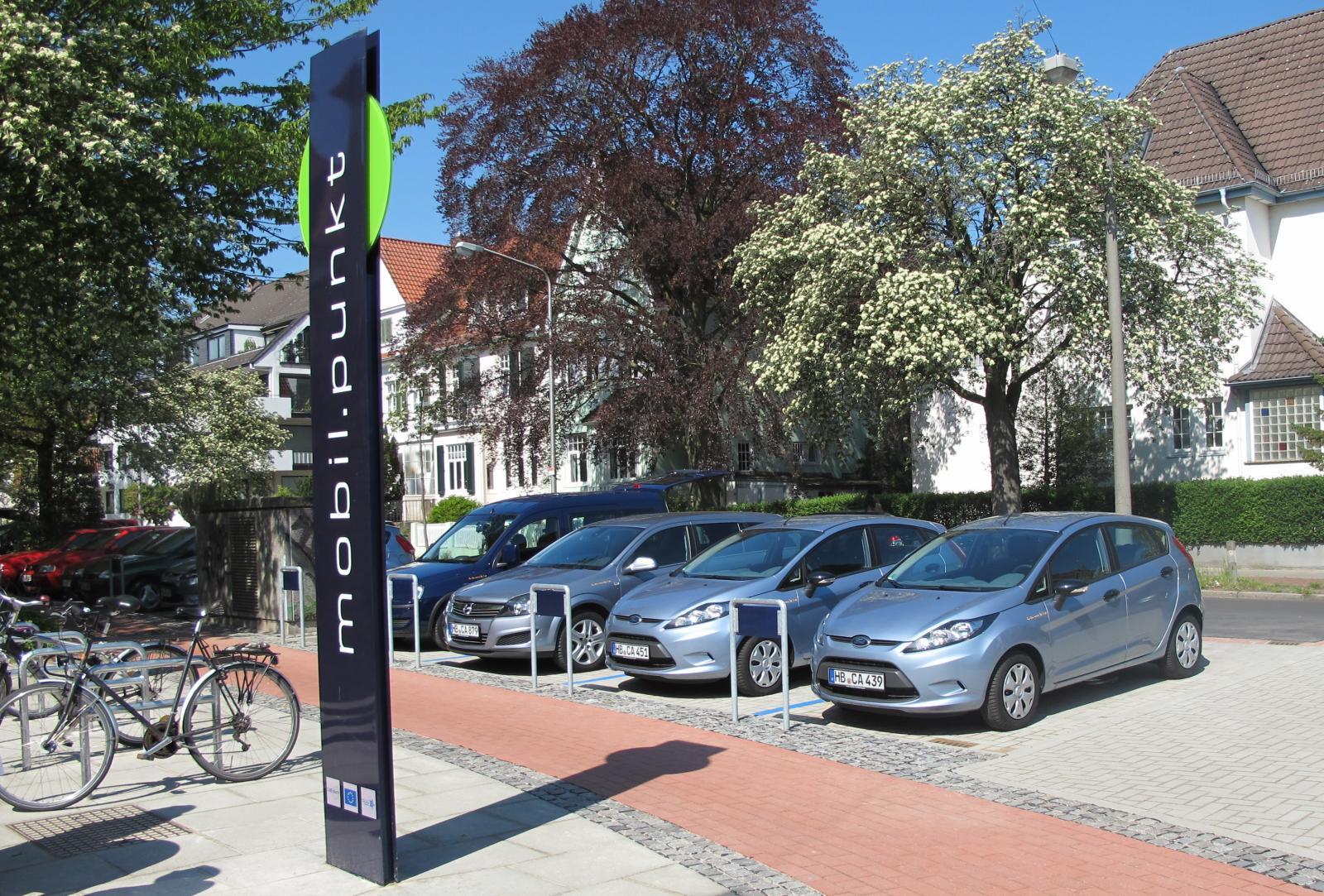Bremen: Vorreiter bei der Einrichtung von CarSharing-Stationen im öffentlichen Raum (Foto: cambio Bremen)