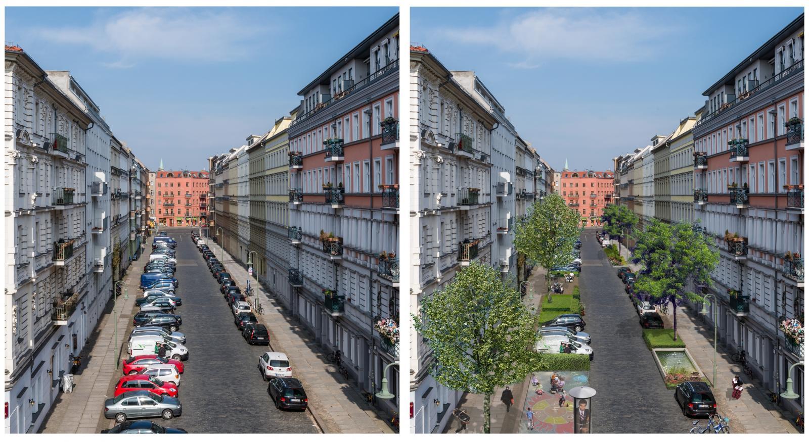 Der Effekt des CarSharing: Mehr Aufenthaltsqualität in Straßen und Wohnquartieren.